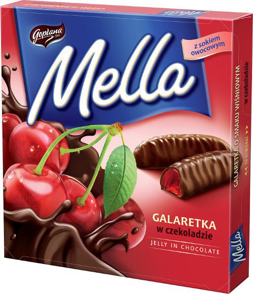Конфеты шоколадные Galaretka Mella вишневым соком Goplana Польша 190г