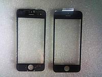 Стекло с дисплейной рамкой и OCA плёнкой для iPhone 5 чёрное