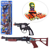 Набор полицейского 520D-07, автомат, пистолет, пули-присоски 6шт, на листе,19-56,5-4см