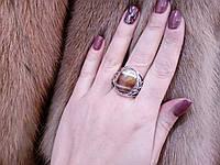 Кольцо из тибетского серебра с камнем агат. Кольцо с агатом.