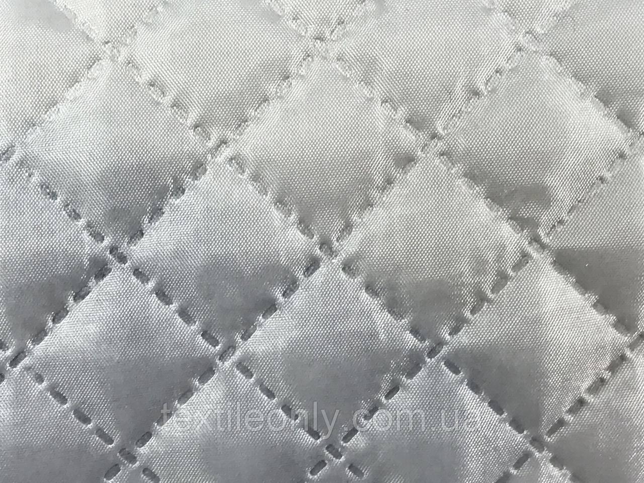 Подкладка нейлон на синтепоне цвет серый квадрат 2х2