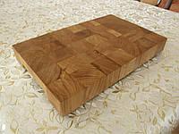 Кухонная торцевая разделочная доска 40х25х3,5 см из дуба С40х25