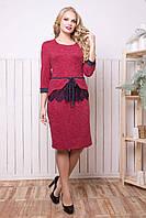 Сукня з баскою з ангори