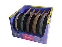 Сковорода Fissman MONBLANE STONE 24Х4.9см CHOCOLATE (алюм. с антипригарным каменным покрытием)