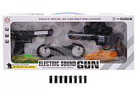 Детский пистолет HY009, свет + муз., набор оружия