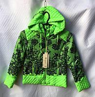 """Куртка детская с цветочным принтом на девочку 6-10 лет Серии """"MALIBU"""" купить оптом в Одессе  на 7 км"""