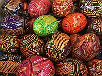 Яйцо деревянное расписное пасхальное