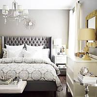 Мягкие изголовья для кровати серого цвета капитоне