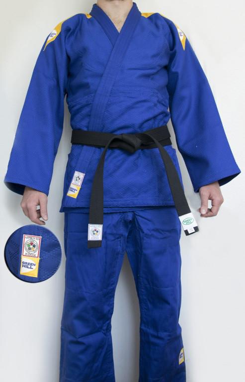 """Кимоно дзюдо """"Professional"""" IJF Green Hill (синее)"""