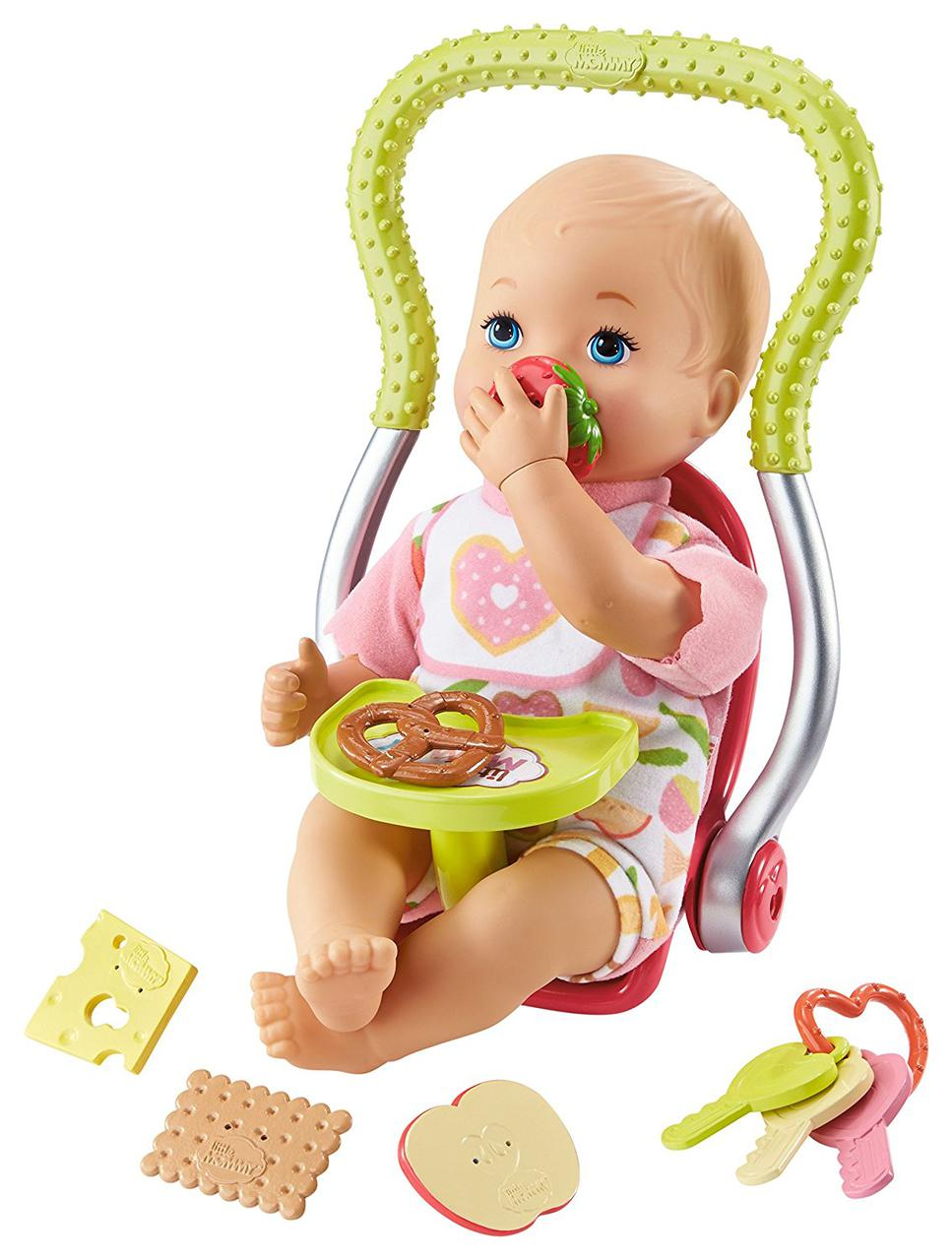 Little Mommy Кукла пупс счастливый перекус Happy Snacktime Baby Doll