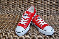 25-41 рр Детские и подростковые кеды конверсы AIL STAR под Converse красные
