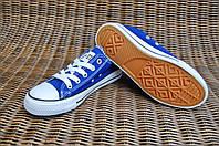 31-34 рр Детские и подростковые кеды конверсы AIL STAR в стиле Converse синие