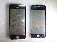 Стекло с дисплейной рамкой , OCA плёнкой и поляризационной плёнкой для iPhone 5C чёрное