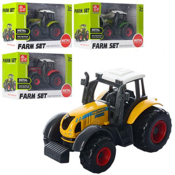Трактор  82001  металл, 7 см,в коробке, 10,5-7-4,5 см
