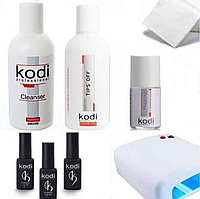 Стартовый набор для гель-лака Kodi с УФ лампой 36Ватт