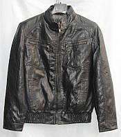 Куртка мужская кожзам молодежная на молнии размеры 48-58 норма купить оптом со склада 7км Одесса