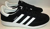 Кроссовки Adidas Gazelle р41-45 черные натуральная замша segi.