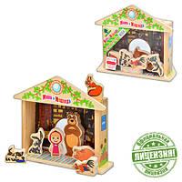 Деревянная игрушка Игра-логика GT 5948 Маша и Медведь, фигурки, в кульке, 18-21-5см