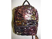 Стильный мини рюкзак с пайеткой