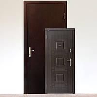 Дверь бронированая УК-2 Металл/МДФ Министр Темный орех