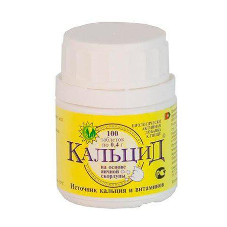 Кальцид на осн.яичной скорл.100таб.по 0.4г. Россия