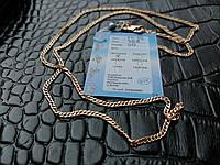 Позолоченная серебряная цепочка панцирь РП-35, 50 см