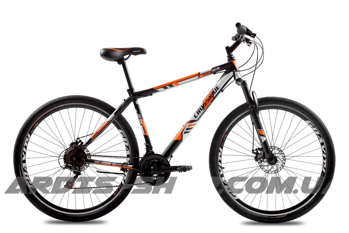 """Горный велосипед CROSSRIDE FLASH 29"""" 17"""", 19""""Черный/Оранжевый"""