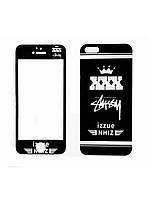 Защитное стекло с рисунком XXX на 2 стороны для Iphone 5/5S/5C/SE