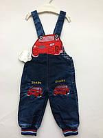 Комбинезон джинс на мальчика 0,5-1 год машинка