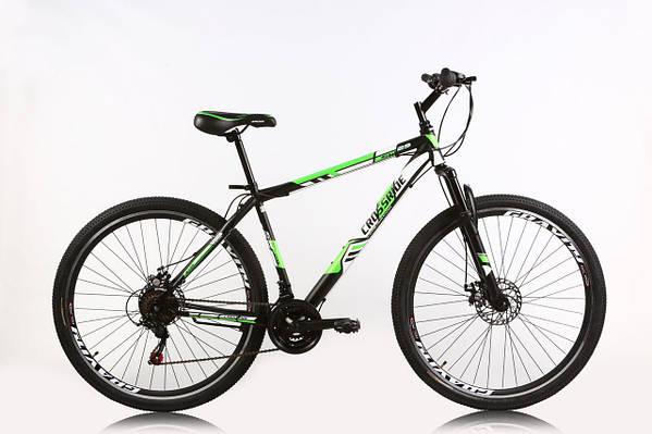 """Горный велосипед CROSSRIDE FLASH 29"""" 19""""  Черный/Салатовый"""