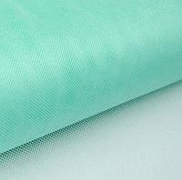 Фатин Ментоловый средней жесткости Тюль (сетка) металлик блеск 3 метра ширина