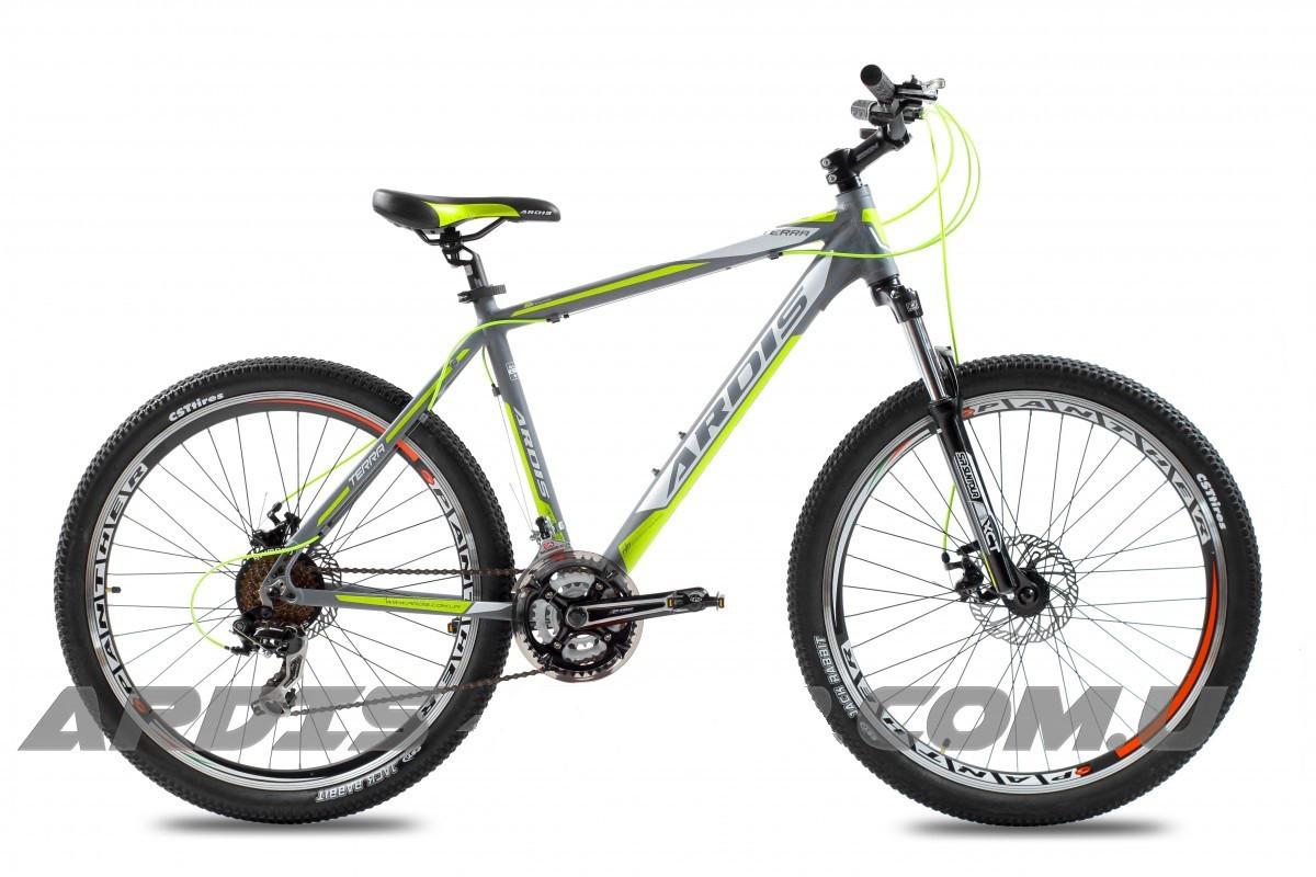 """Горный велосипед ARDIS TERRA MTB 27.5"""" 19""""  Серый/Желтый"""