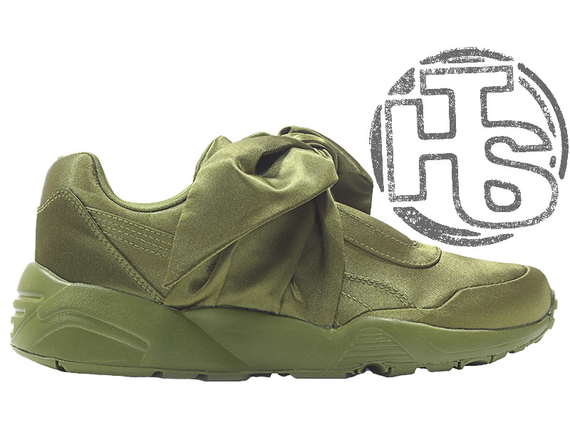 new styles 72587 02c2a Женские кроссовки Puma Fenty by Rihanna Bow Sneakers Olive Green 365054-04