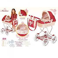 Коляска детская игрушечная для куклы 80215,классика,90-45-80см, корзина, сумка, подушка, в кор-ке,57-38-16см.