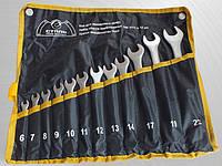 Набор ключей комбинированных  Сталь CRV из 6 шт Satine, в чехле (арт. 48401)