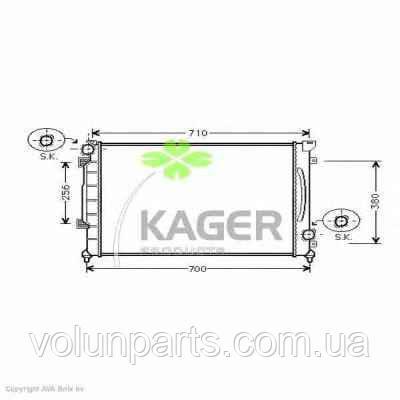 Радиатор охлаждение двигателя audi a6c5 2.5 мех. Kager 310032