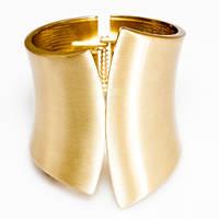 Широкий золотой браслет Элина - элитная бижутерия