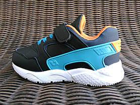 29р - 31р Детские кроссовки на липучках для девочки и мальчика в стиле Nike Huarache, фото 3