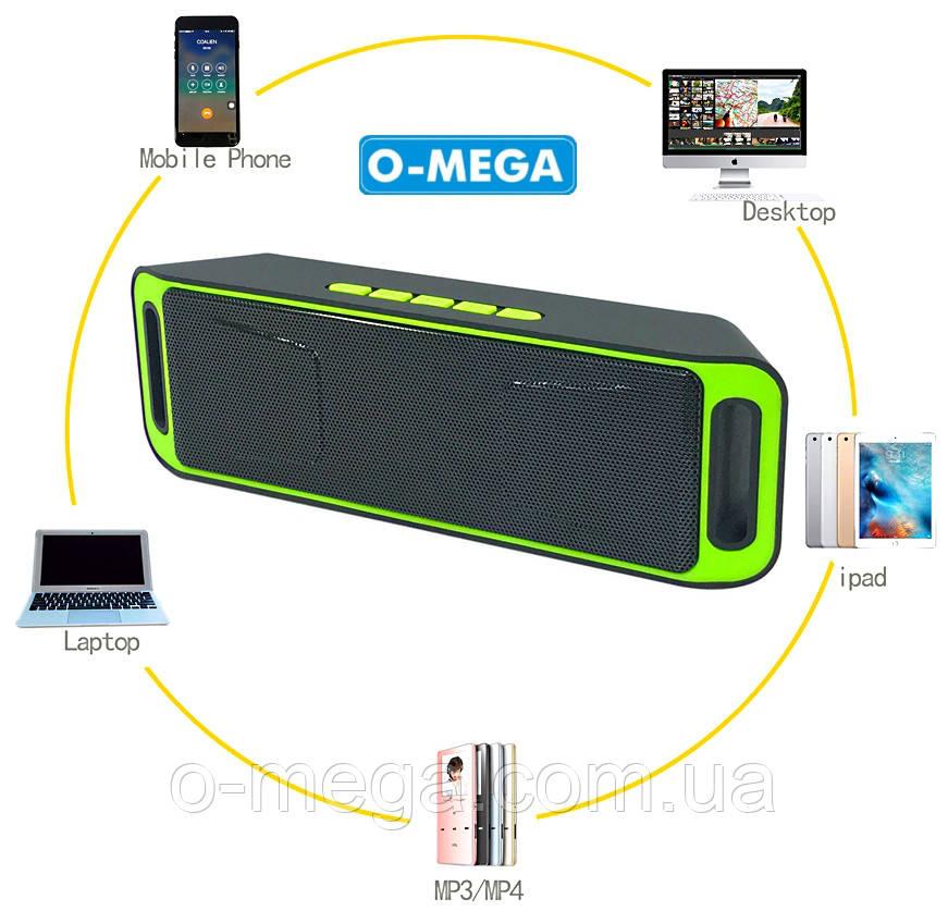Беспроводная, портативная Bluetooth стерео колонка SPS SC-208 радио FM, USB, MP3, speakerphone