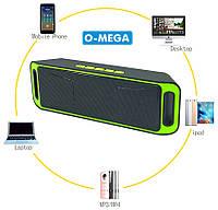 Беспроводная, портативная Bluetooth стерео колонка SPS SC-208 радио FM, USB, MP3, speakerphone, фото 1