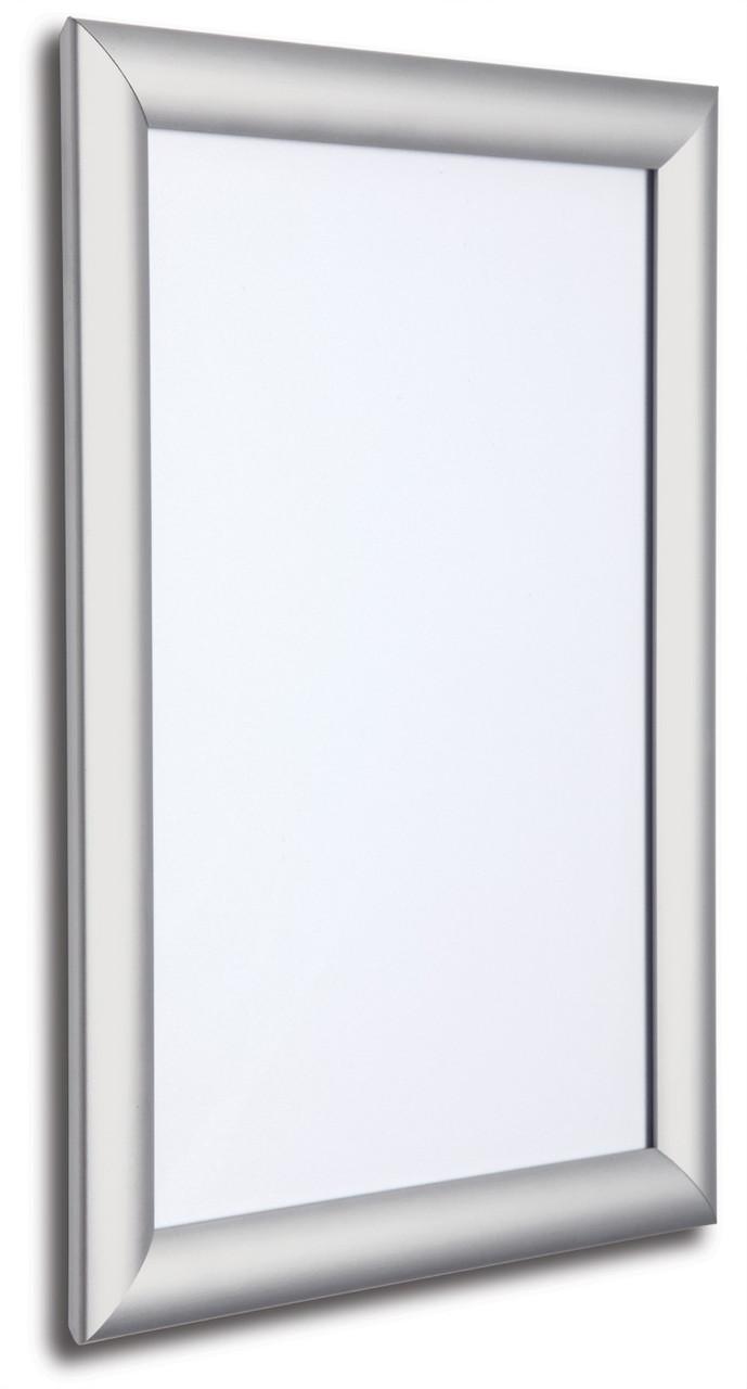 Клик рамка для плаката из алюминия А3 25 проф. Серебристого цвета.