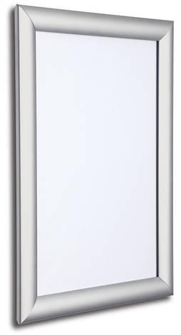 Клик рамка для плаката из алюминия А3 25 проф. Серебристого цвета., фото 2
