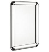 Рамка с клик системой для плаката из алюминия А4 25 профиль. Скруглённые углы.