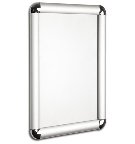 Рамка с клик системой для плаката из алюминия А4 25 профиль. Скруглённые углы., фото 2
