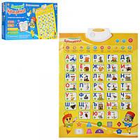 Плакатобучающий 7002 RU, звук(рус), буквы, цифры, цвета, скороговорки, 45-60, на бат-ке