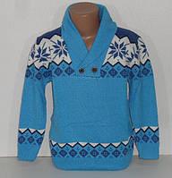 Джемпер голубой с орнаментом