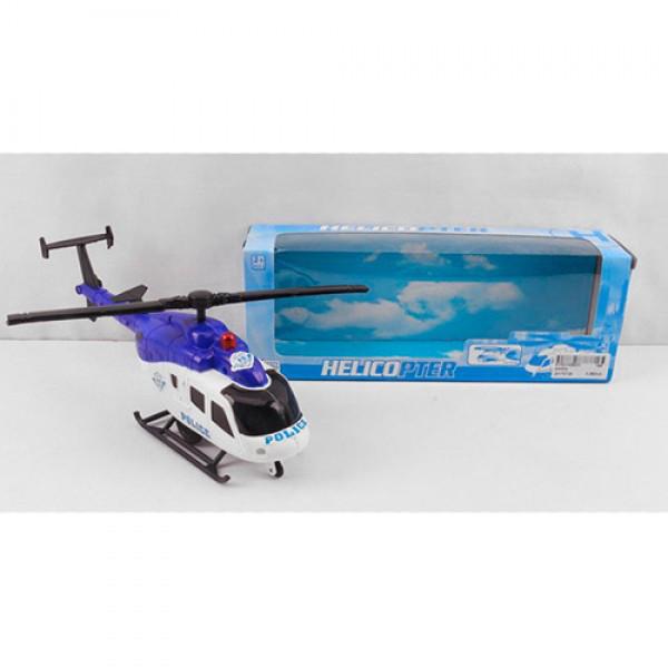 Вертолет  003   25 см, полиция, ездит, вращается, в коробке, 26,5-9,5-6,5 см