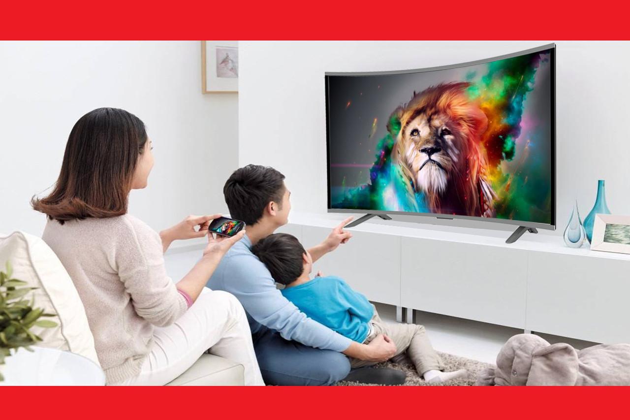 "LCD LED Телевизор JPE 32"" Изогнутый Smart TV, WiFi, 1Gb Ram, 4Gb Rom, T2, USB/SD, HDMI, VGA, Android 4.4"