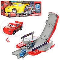 """Игровой набор Машина-трансформер(трек) """"Тачки"""" 6350-51, 27см, машинки 2шт, 7см, 2вида"""