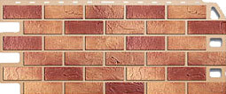 Цокольная панель Альта-Профиль Кирпич цвет: Красный, Жженый, Бежевый, Белый, Комбинированый